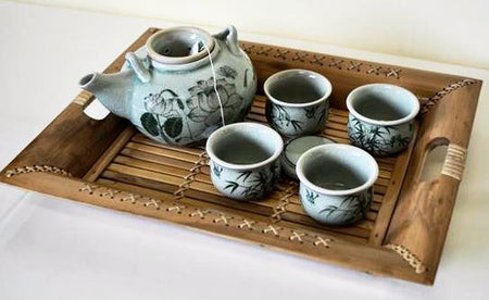Lotus Celadon China Tea Set - Bali Thai Imports