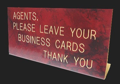 Agent Leave Card Brown