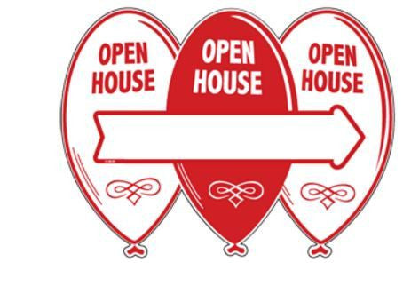 Open House Arrow Balloons