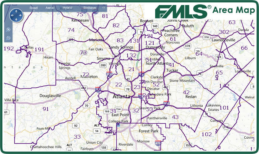 Fmls Metro Atlanta Area Map Fmlsstore