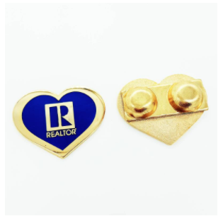 Realtor Gold Heart Pin