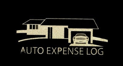 Auto Expense Log Book Black