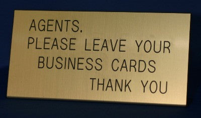 Agent Leave Card Gold