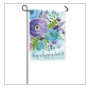 Water Color Floral Garden Flag