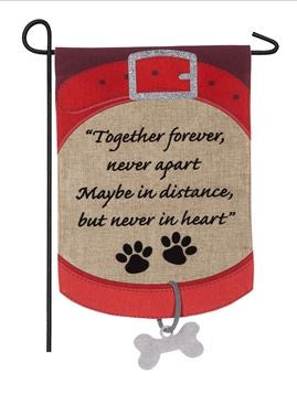 Pet Memorial Burlap Flag
