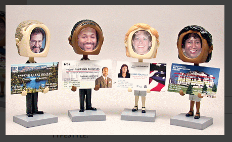 BobbleHead Business Card Holder