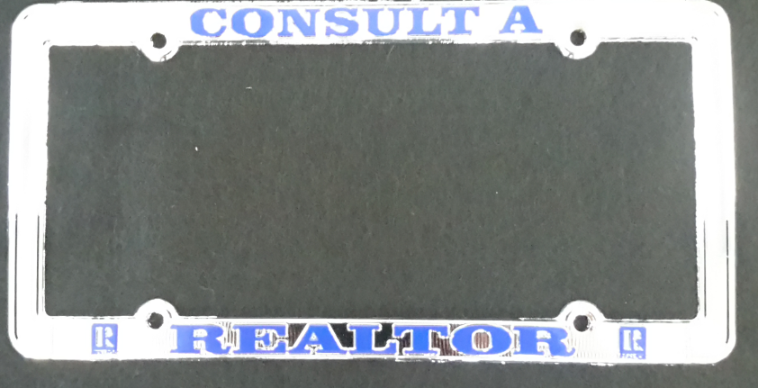 Realtor License Plate Frame Ch