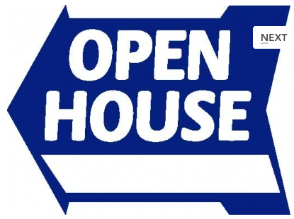 Open House Blue Arrow