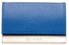 Business Card  Holder Blue