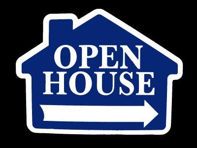 Open House House Shape Blue