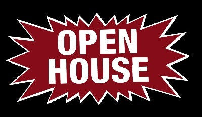 Open House Starburst Sign