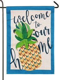 Pineapple Burlap Flag