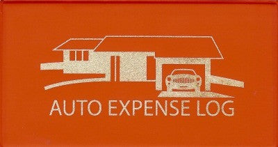Auto Expense Log Book Red