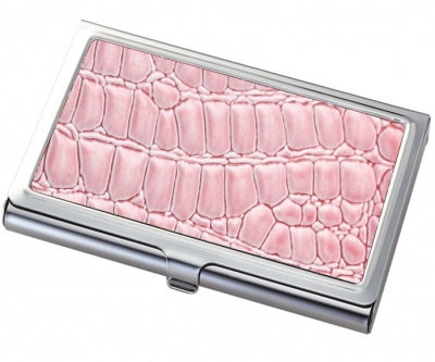 Business Card Holder Pink