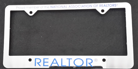 Realtor License Plate Frame Si
