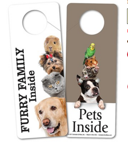 Pets Inside Door Hanger