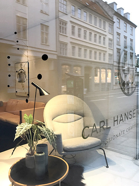 In-store installation at the Carl Hansen and son flagship store in Bredgade, Copenhagen