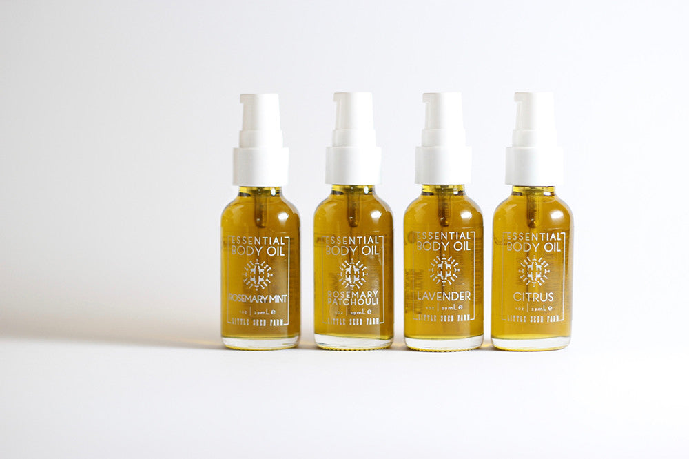 Essential Body Oil - 4 Scents