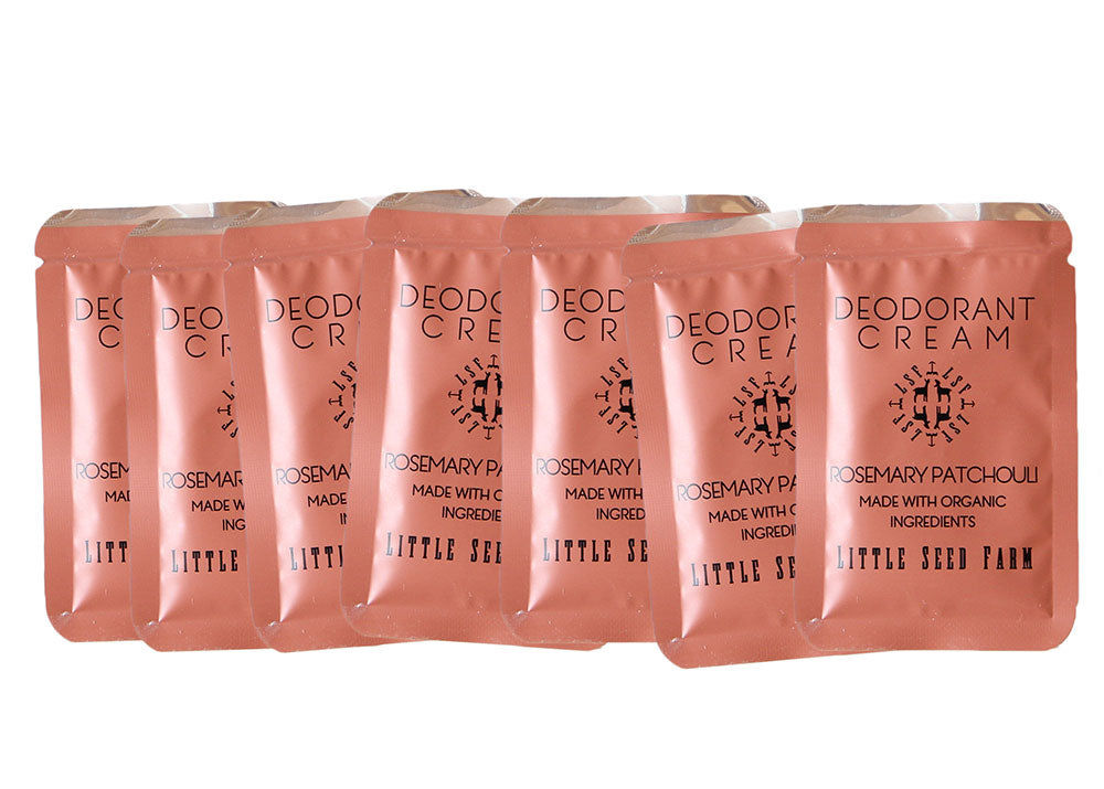 Travel Pack - Seven Organic Deodorant Cream Pouches