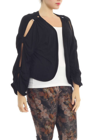 CASEY BLACK BOLERO JACKET *PLUS SIZE