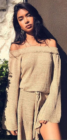 DROP EVERYTHING SWEATER DRESS