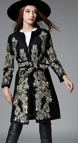 DUCHESS EMBROIDERED COAT