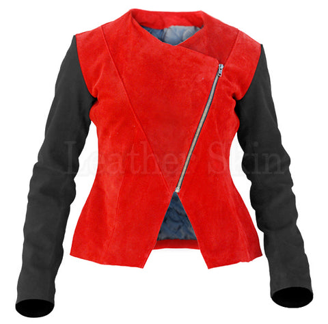 CHIC IN THE CITY RED SUEDE JACKET *LIMITED EDITION*