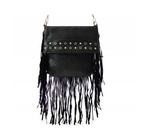 THE MESSENGER FRINGE HANDBAG