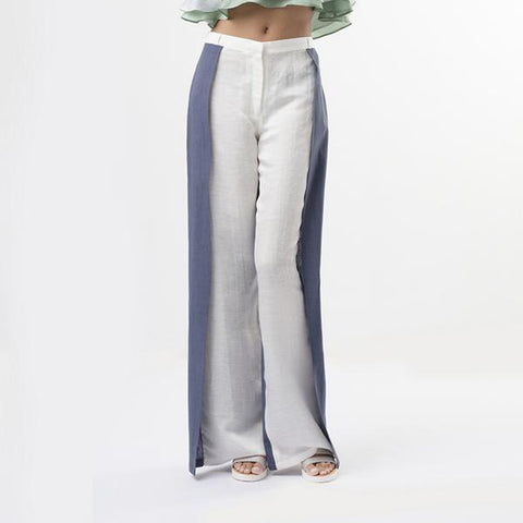 BLUE & WHITE ENVELOPE PANTS