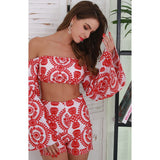 FAELYN RED TWO PIECE SET