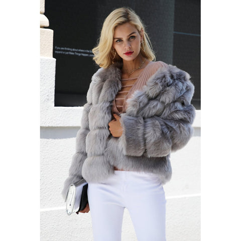 TAJ MAHAL FAUX FUR COAT