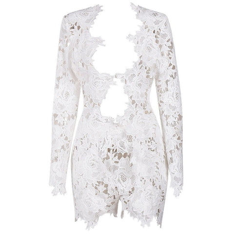 AMILA WHITE LACE MINI DRESS