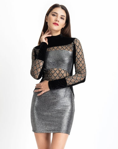 HEAVY METAL SILVER DRESS