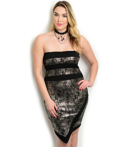 AJA STRAPLESS DRESS *PLUS SIZE