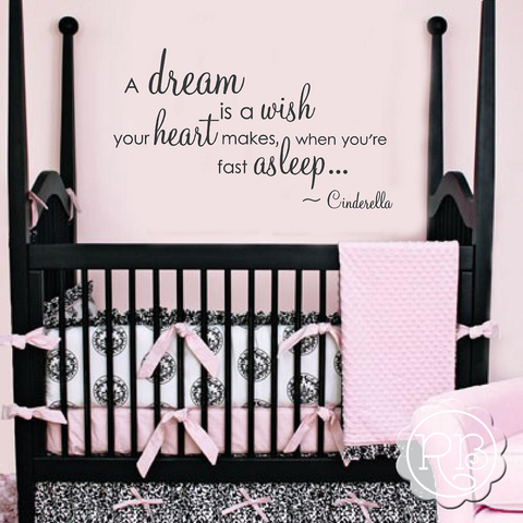 A DREAM IS A WISH Princess Wall Decal