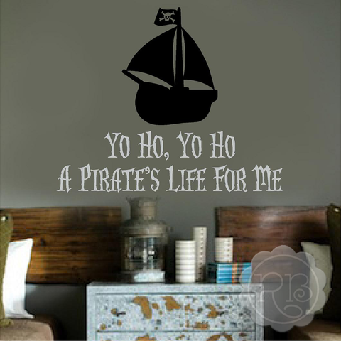 A Pirate's Life Kid's Wall Decal