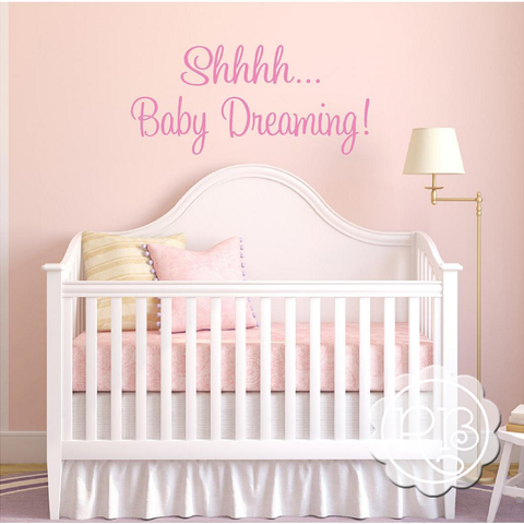 BABY DREAMING Nursery Wall Decal