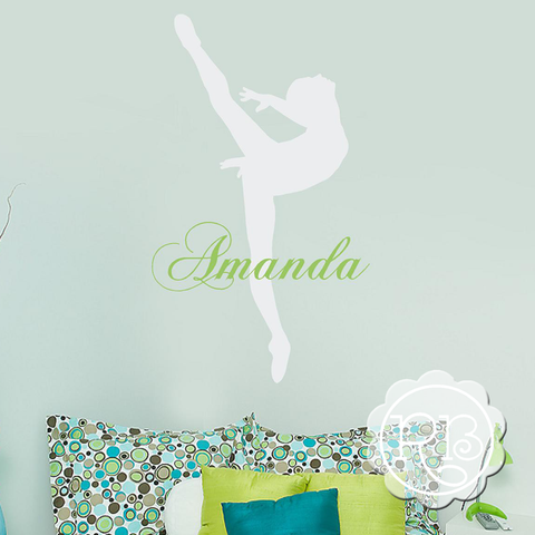 BALLERINA Personalized Wall Decal