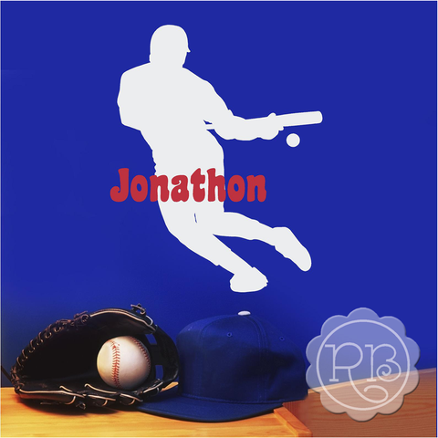 BASEBALL PLAYER Personalized Decal