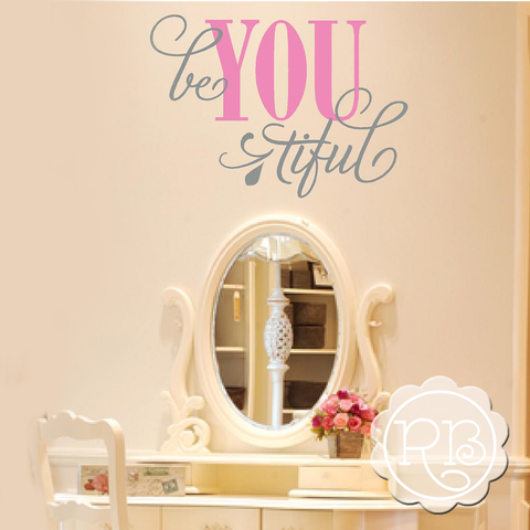 BE YOU TIFUL Girl's Wall Decal