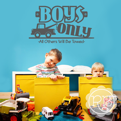 BOYS ONLY Boy's Removable Wall Decal