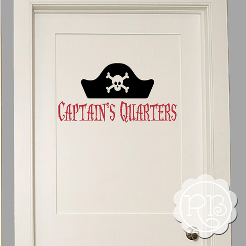 CAPTAIN'S QUARTERS Kid's Pirate Wall Decal