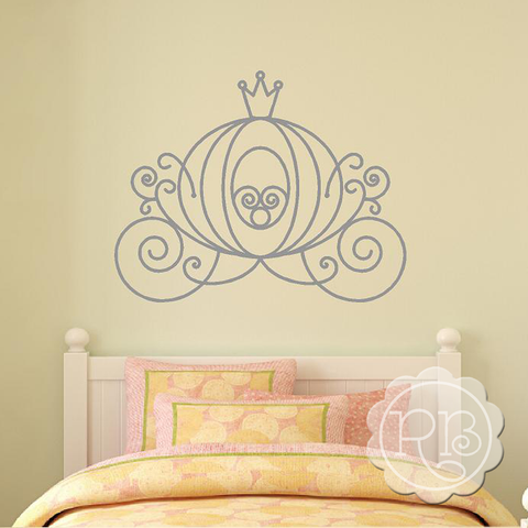CINDERELLA'S CARRIAGE Princess Wall Decal