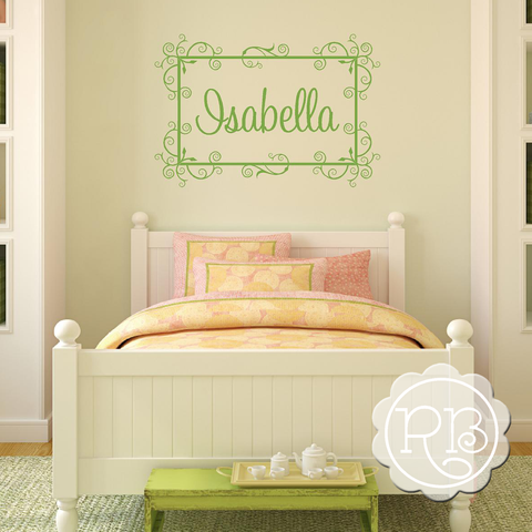 FANCY BORDER Personalized Decal