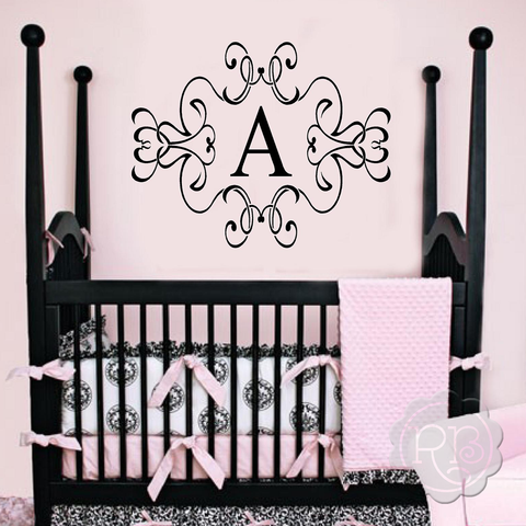 Fancy Wall Monogram Decal