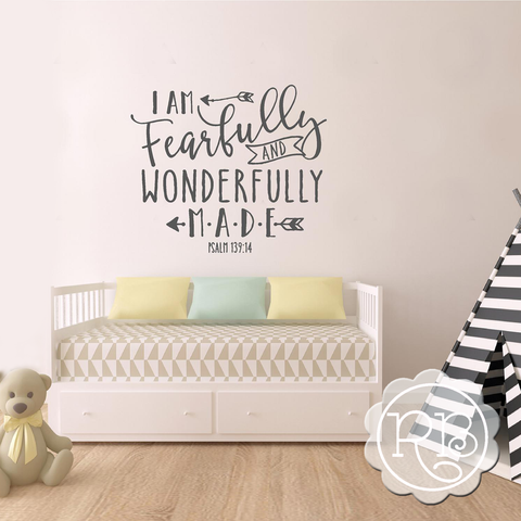 I AM FEARFULLY AND WONDERFULLY MADE Nursery Wall Decal