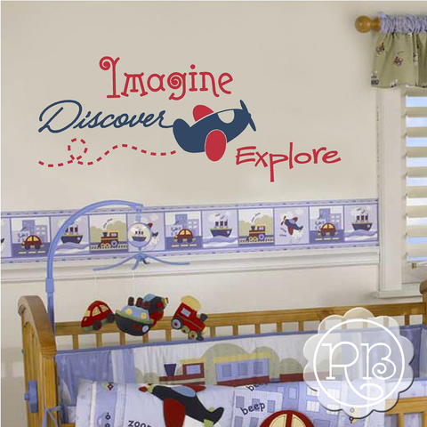 IMAGINE DISCOVER EXPLORE Kid's Wall Decal