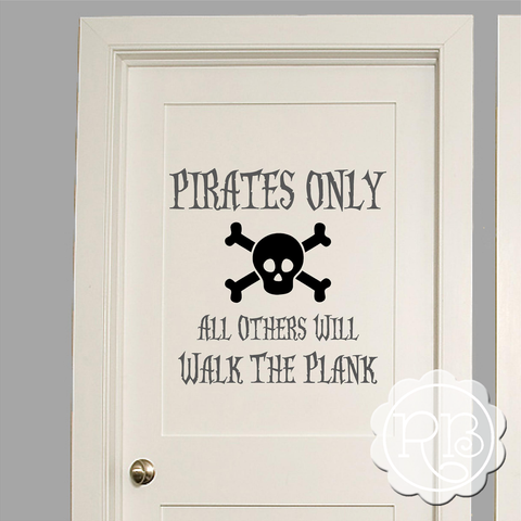PIRATES ONLY Kid's Wall Decal