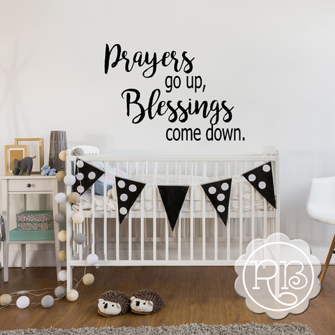 PRAYERS GO UP Nursery Wall Decal