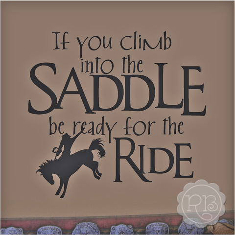 READY FOR THE RIDE Cowboy Wall Decal